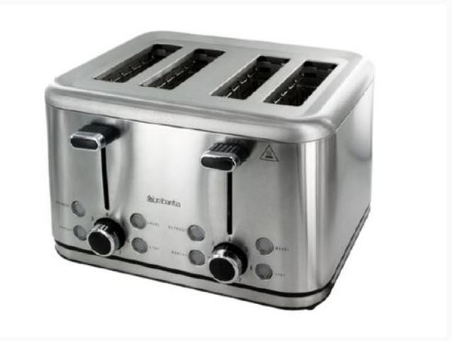 Brabantia 4 Slice Stainless Steel Toaster Refurbished - BBEK1031N