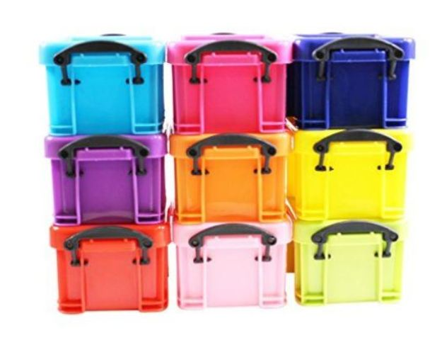 Mini Stackable Plastic Storage Containers