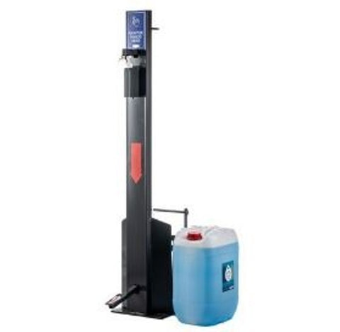 Premium Sanitizer Dispenser Stand with Foot Pump & 25 Litre Hand Sanitizer