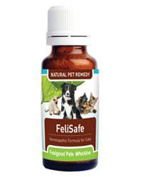 Feelgood Pets FeliSafe: Homeopathic remedy for cat 'flu' & viral infections in cats Natural Pet Remedies Feelgood Pets - 4aPet