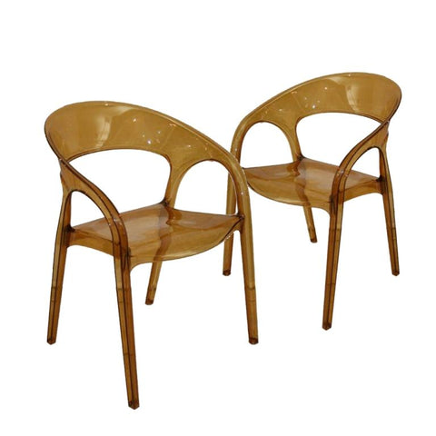 Gossip Armchair Pedrali Italy - set of 2 chairs - Amber