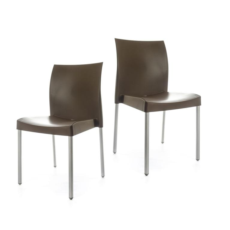Ice Chair - set of 2 chairs - Brown