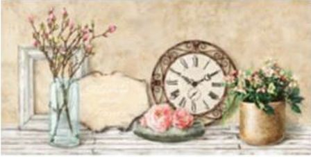Canvas Prints - Mon Jardin (including clock mechanism) | NextBuy