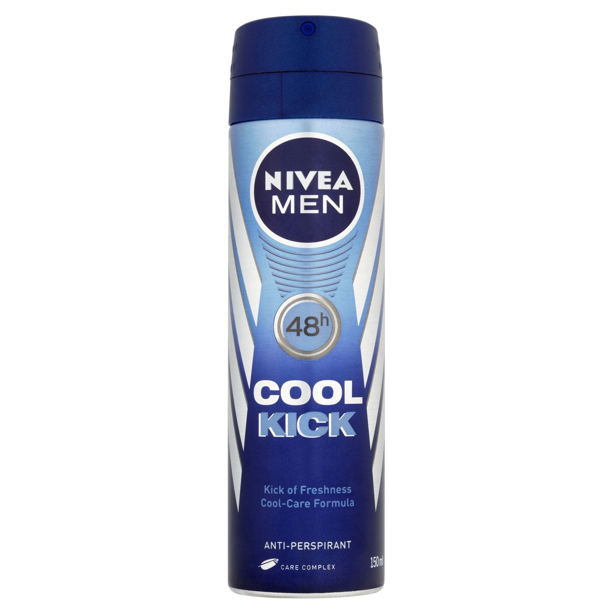 Nivea Men Cool Kick 48h Anti-Perspirant 150ml - Pack of 6 (Sty-NVNPCLKCK)
