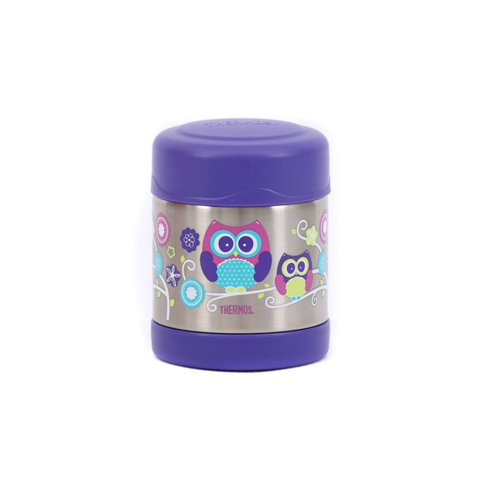 Thermos Funtainer 290ml Food Jar - Hot and Cold food container - Owl