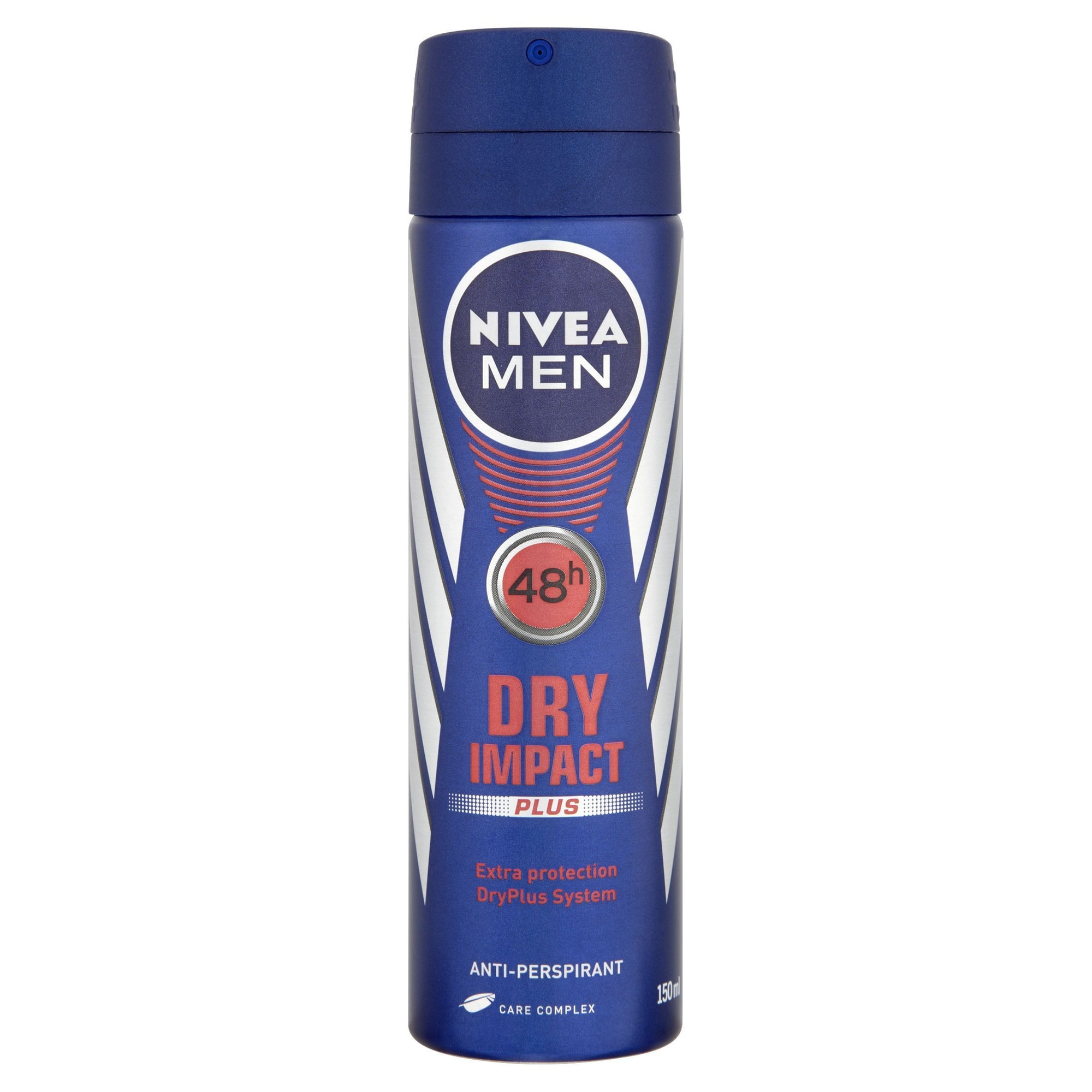 Nivea Men Dry Impact Plus 48h Anti-Perspirant 150ml - Pack of 6 (Sty-NIVE109MEN)