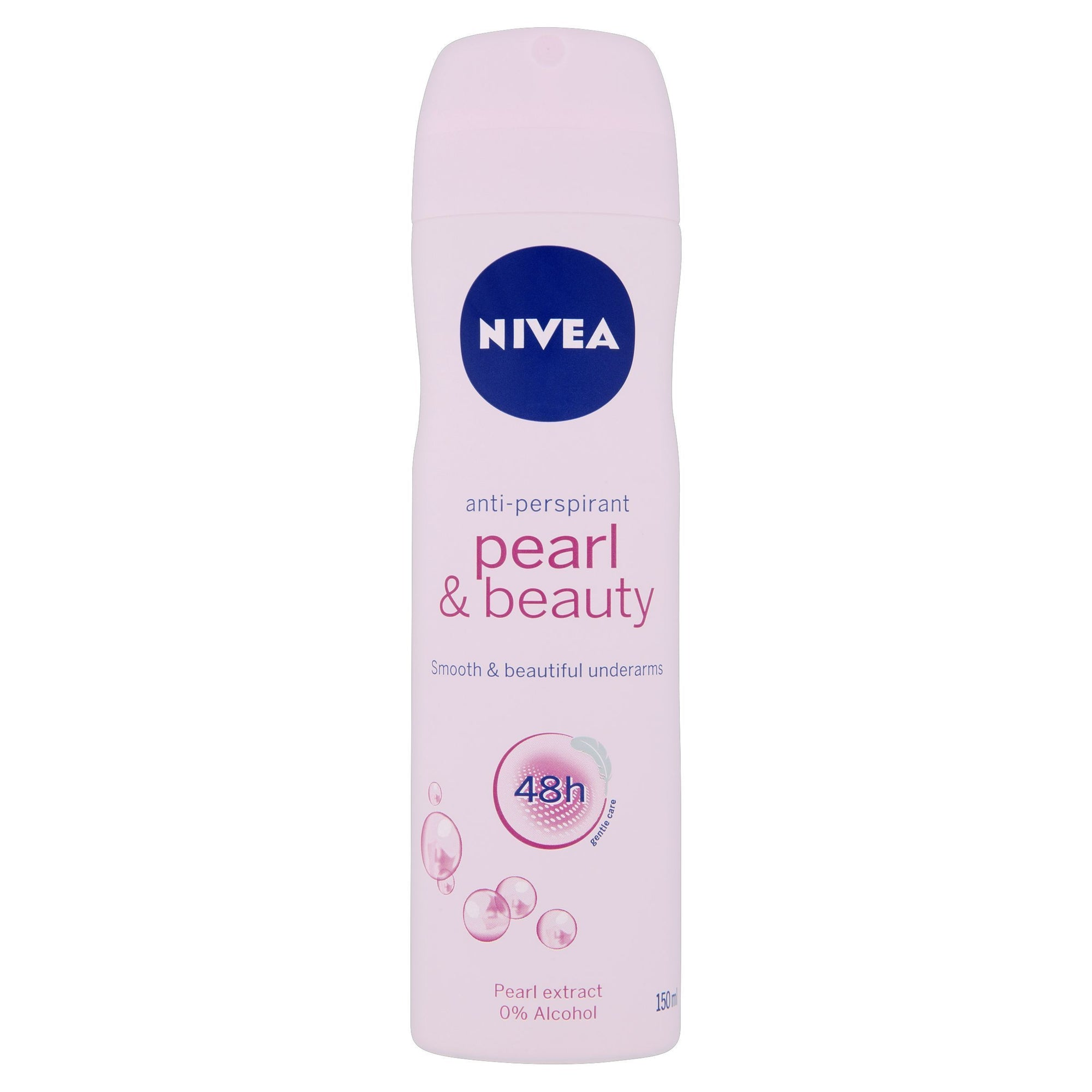 Nivea Pearl & Beauty 48h Anti-Perspirant 150ml - Pack of 6 (Sty-NIVE385WOME)