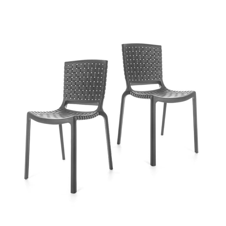 Tatami Chairs - set of 2 chairs - Grey