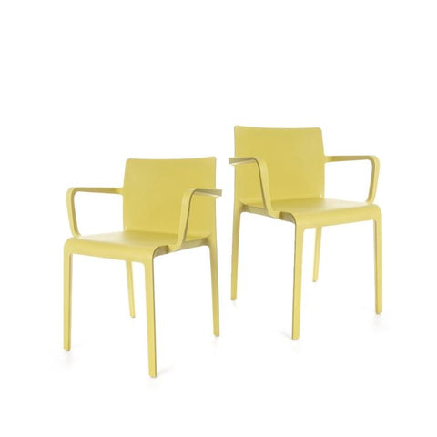Volt Armchair - set of 2 chairs - Yellow
