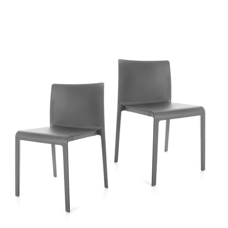 Volt Chair - set of 2 chairs - Grey