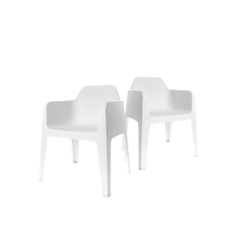 Plus Armchair Pedrali Italy - set of 2 chairs - White