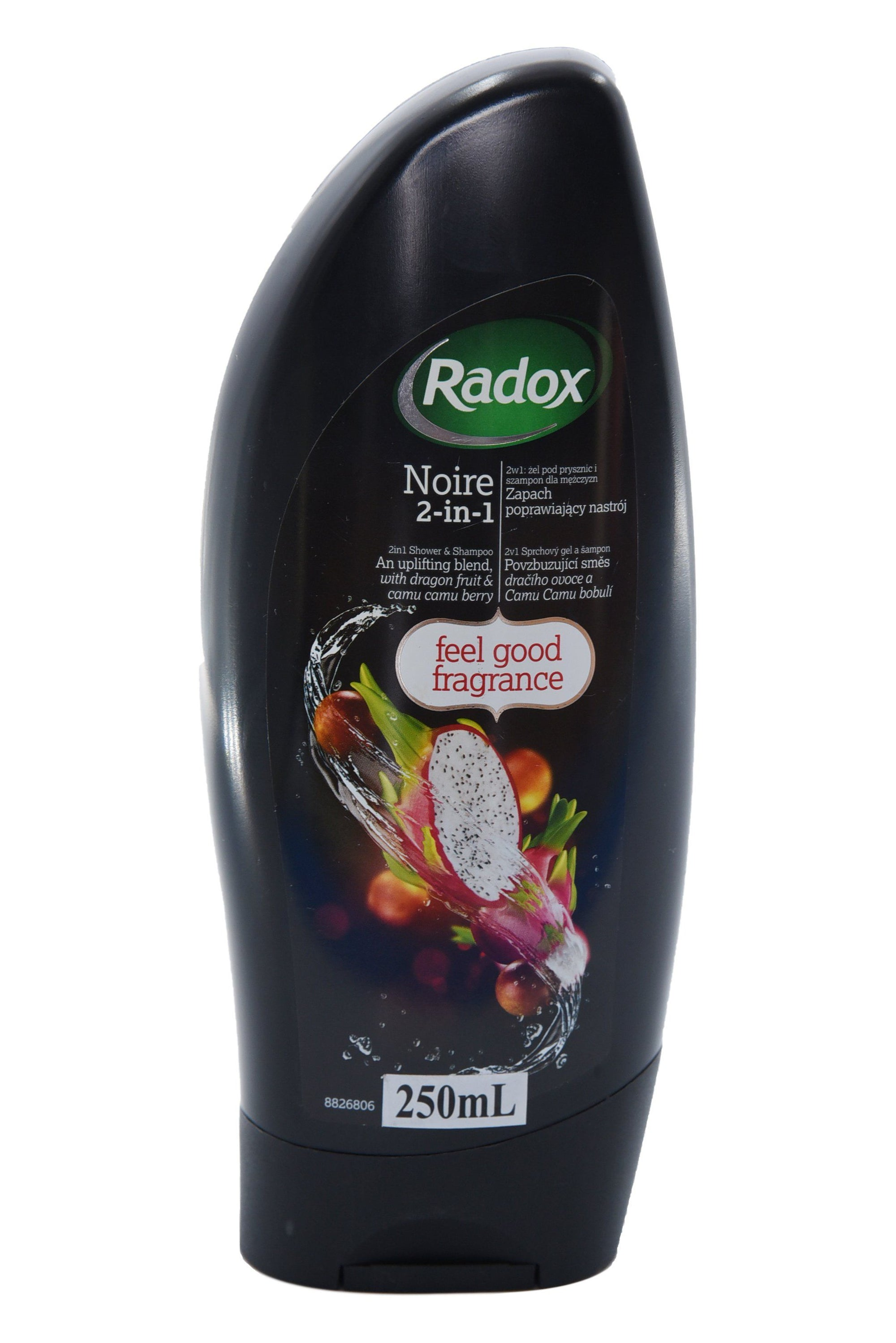 Radox Noire Shower Gel 250ml - Pack of 12 (Sty-RADNOIRSOA)