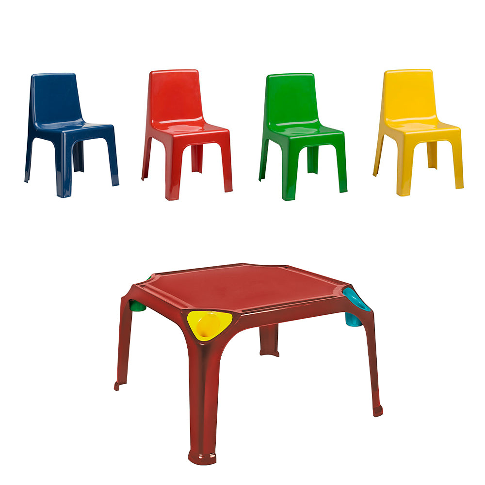 Kids Table and Chair Combo (Red)