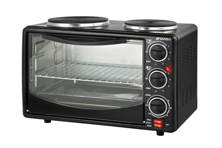 Sansui 22L Mini Oven & Twin Hotplates (SO2000)