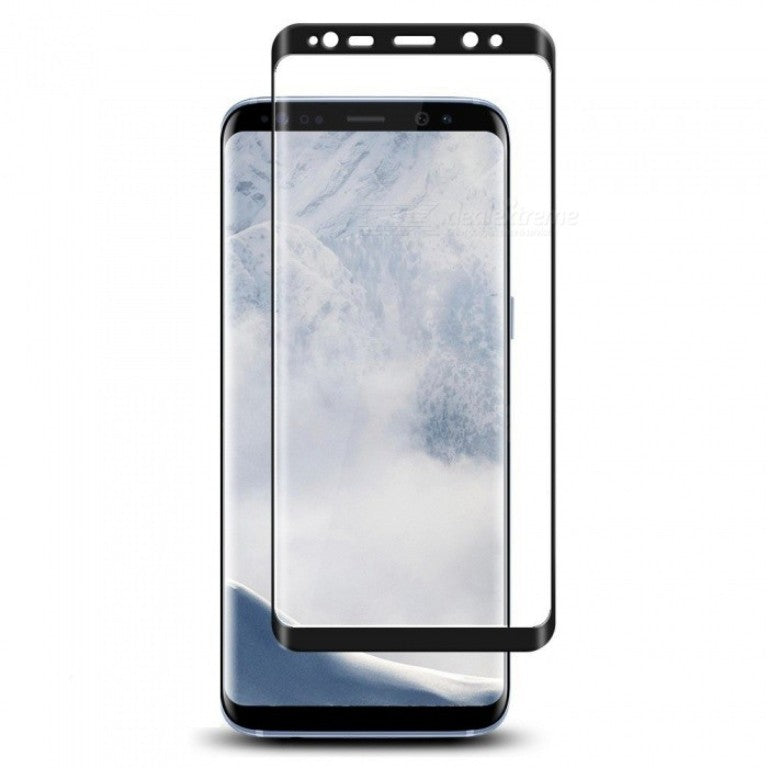 Samsung S9 Tempered Glass Screen Protector - Black  Screen Protector