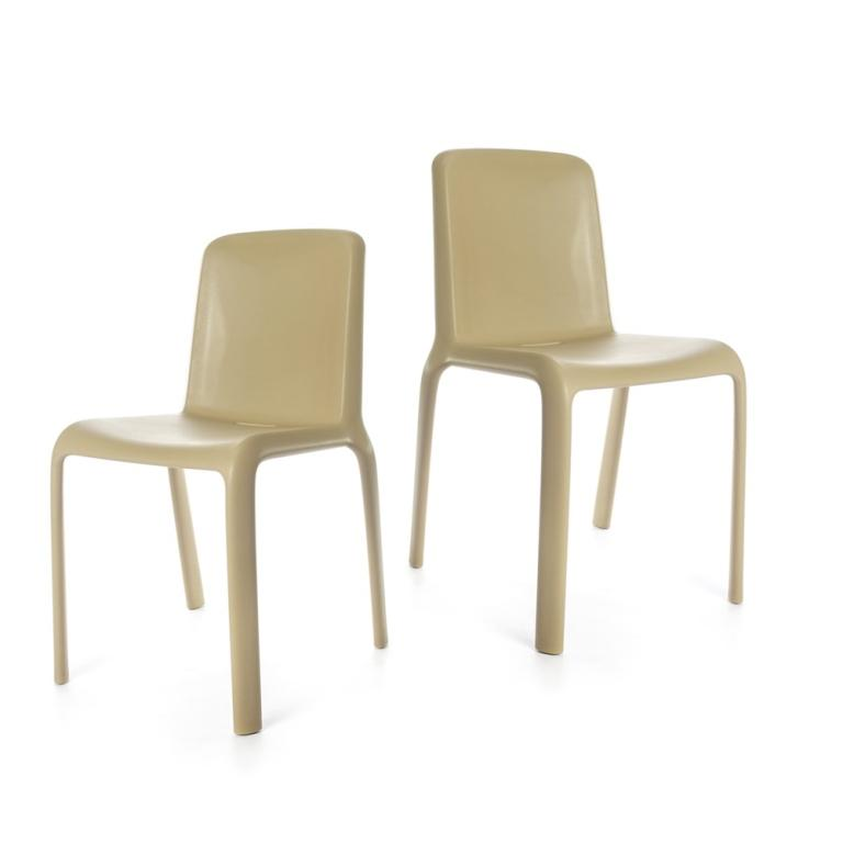 Snow Chair - set of two chairs - Beige