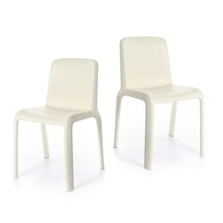 Snow Chair Junior- set of 2 chairs - White