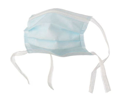 Surgical Face Mask with Tie Backs - 3-Ply (Pack of 100)