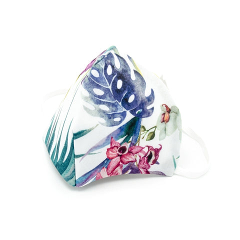 Trendy Printed Adult Face Mask - Leaves (3 Pack)