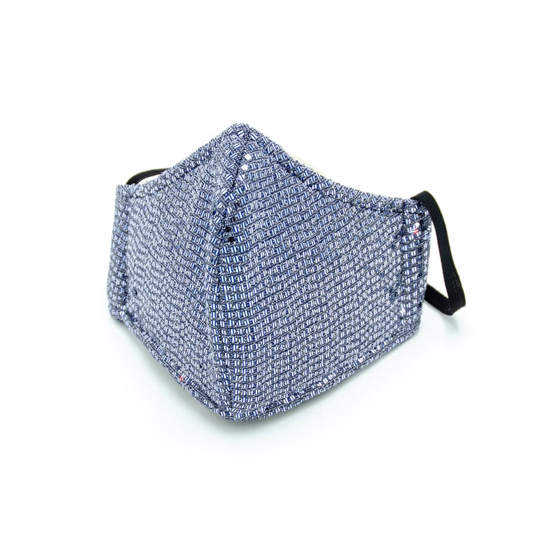 Sequin Adult Face Mask - Blue