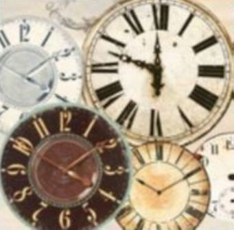Canvas Prints - Time Pieces 2 (including clock mechanism) (50cm x 50cm)