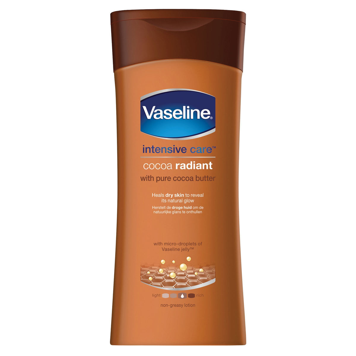 Vaseline Body Lotion Cocoa Radiant 400ml - Pack of 6
