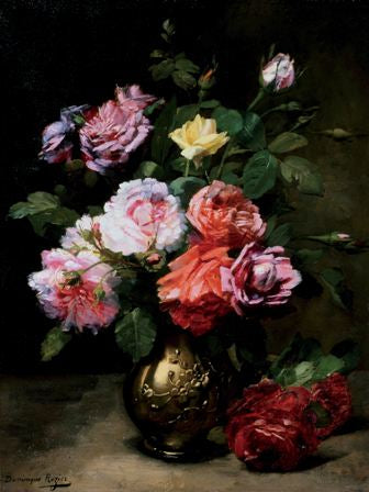 Canvas Prints - Roses in a Vase (80cm x 60cm)