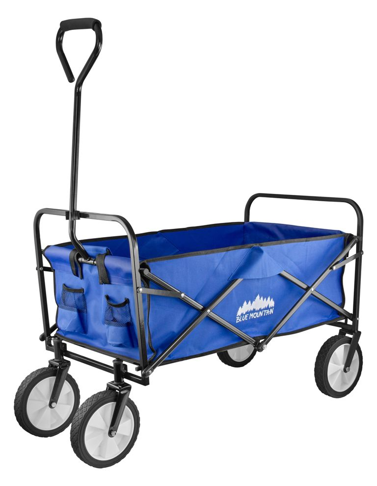 Blue Mountain Collapsible Folding Outdoor Utility Wagon