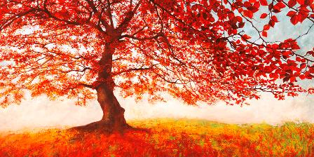 Canvas Prints - Jan Elder Red Leaves (120cm x 70cm)