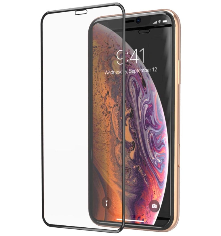 iPhone 11 Pro Max Tempered Glass Screen Protector - Black