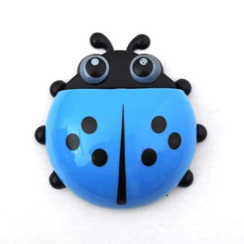 4aKid Safety Ladybug Toothbrush Holder - Blue Bathroom Accessories - 4aKid