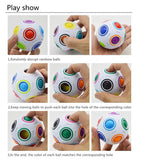 FUN RAINBOW PUZZLE BALL