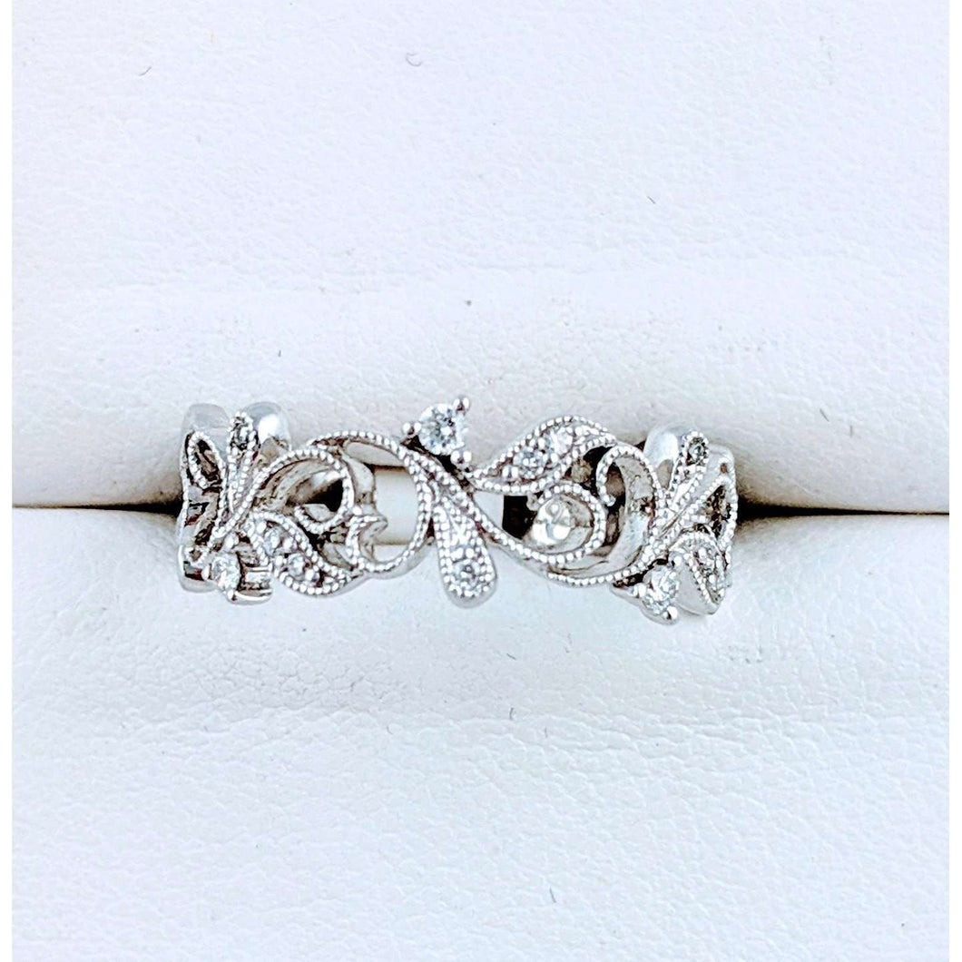 Diamond Vine Wedding band