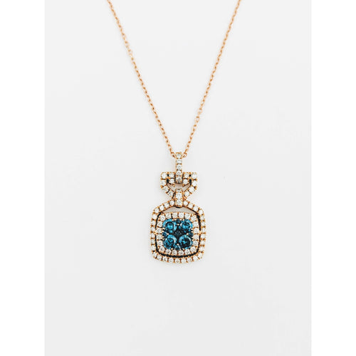 14k Blue Diamond Necklace