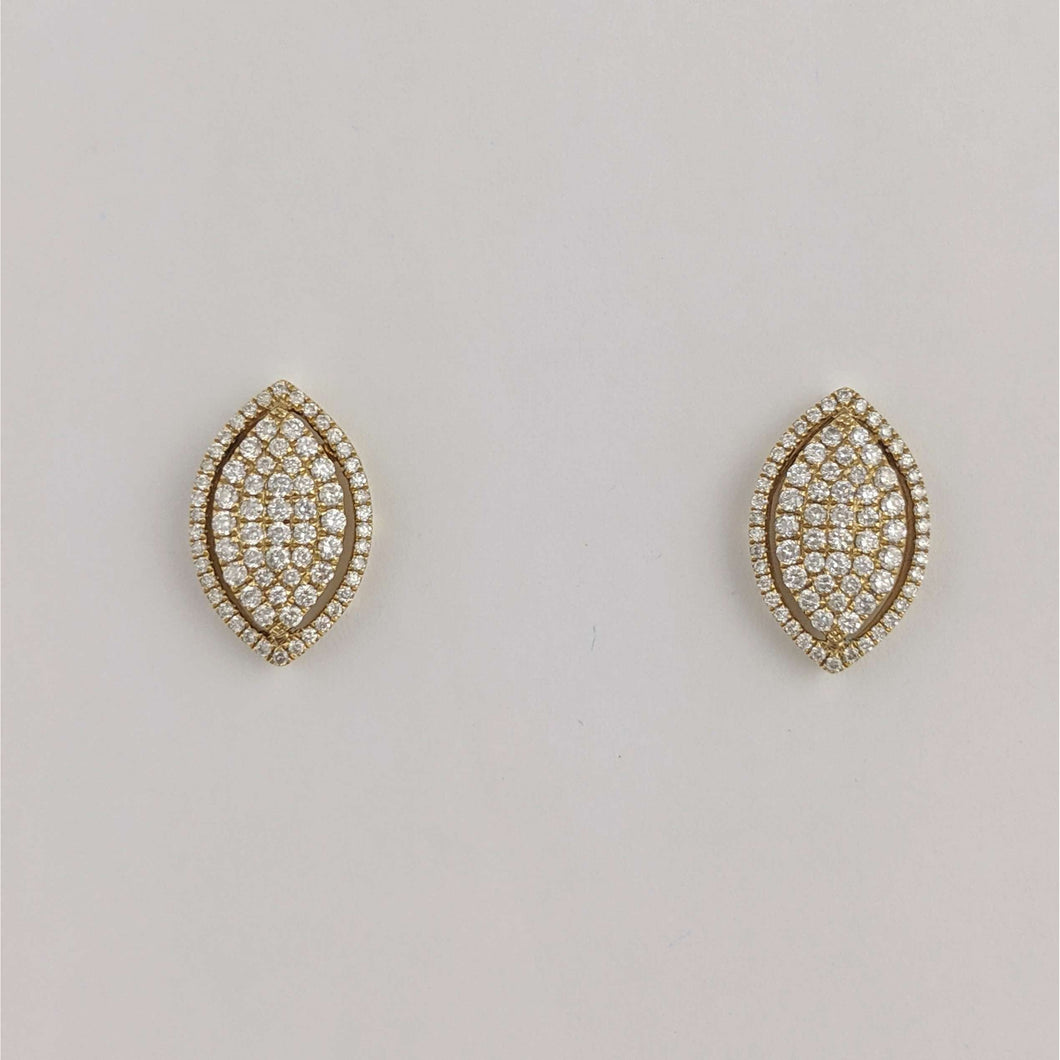 14kyg Diamond Pave Earrings