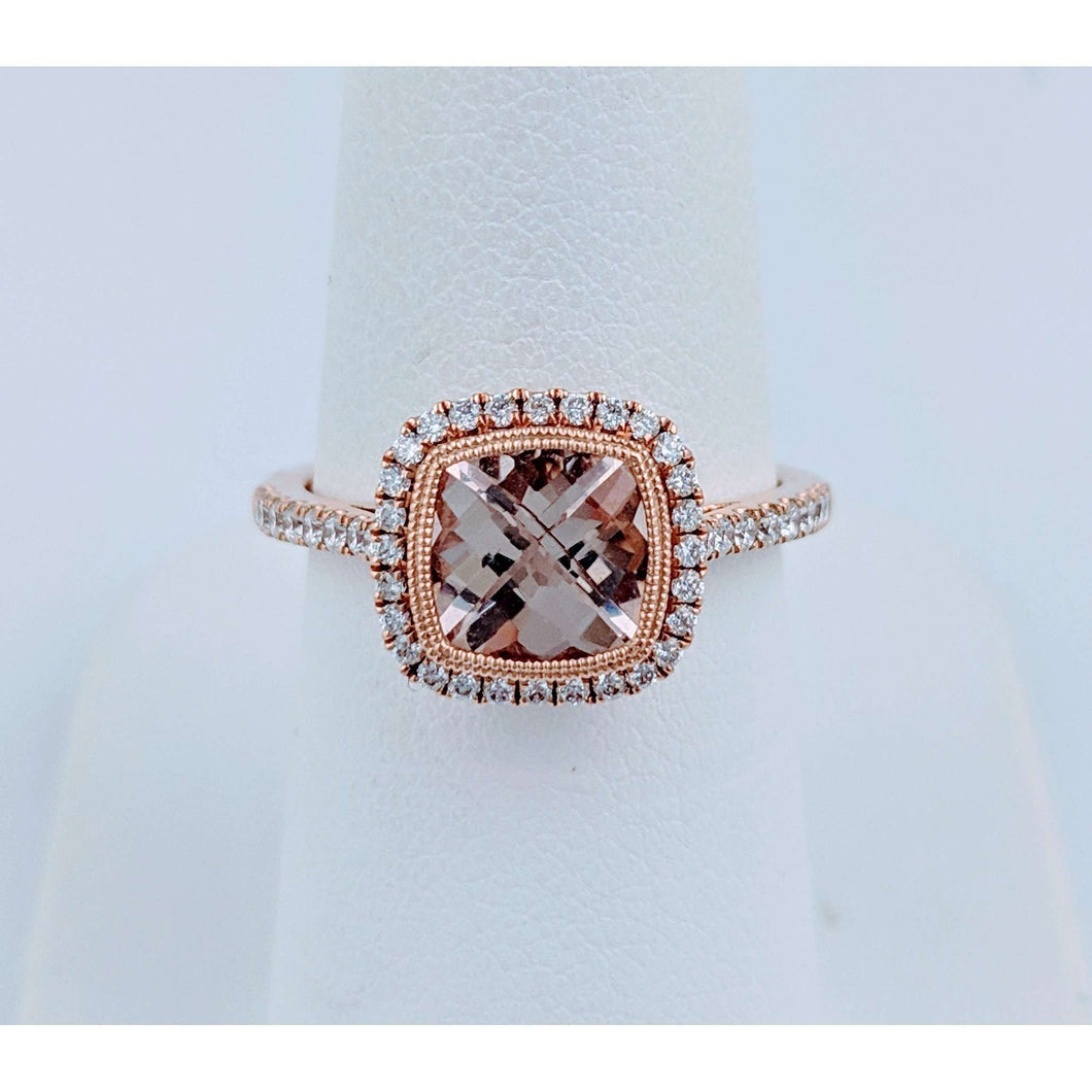 14krg Morganite and Diamond Ring