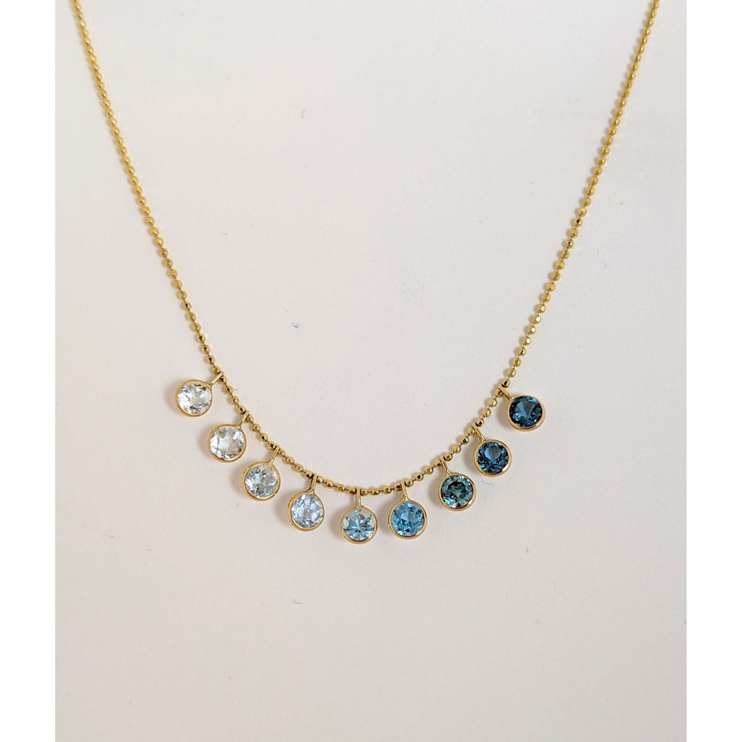 14kyg Blue Ombre necklace