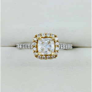 14kg t/t Halo Engagement ring Semi Mount
