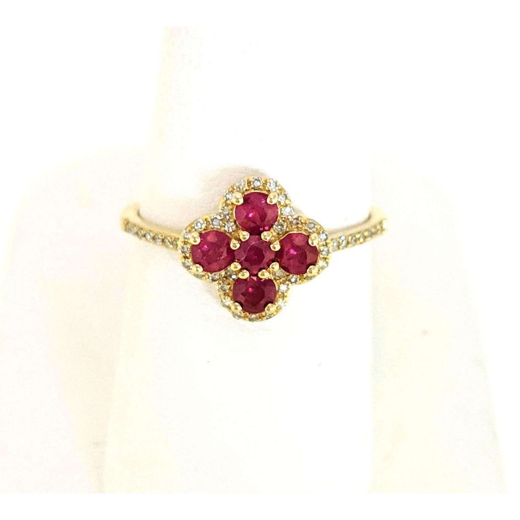 14kyg Ruby and Diamond Ring