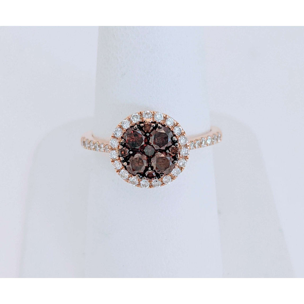 18krg Cognac Diamond Ring