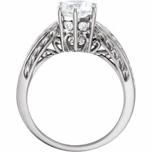 Load image into Gallery viewer, 14k white gold setting for a one carat size Diamond Engagement Ring