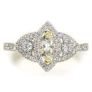 Diamond Marquis Engagement Ring