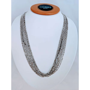 Sterling Silver glimmering Multi strand necklace
