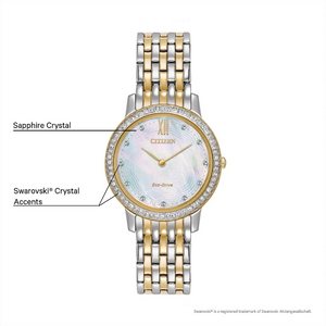 Citizen ladies 'Silhouette Crystal' Eco-Drive watch
