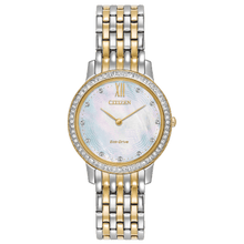 Load image into Gallery viewer, Citizen ladies 'Silhouette Crystal' Eco-Drive watch