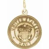 Gents 14k yellow gold St. Christopher US Navy Medal