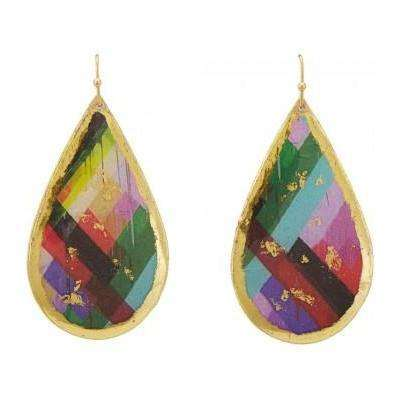 Evocateur teardrop earrings