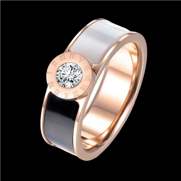 Bague Or Rose Chiffres Romains
