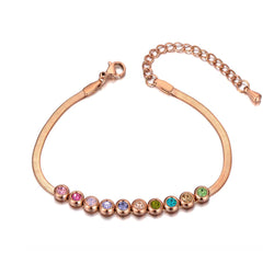 Bracelet Or Rose Pierres Multicolores