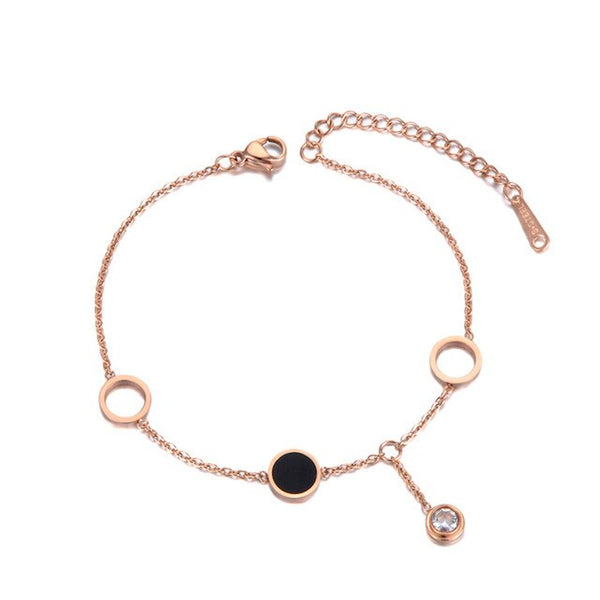 Bracelet Or Rose Ronds